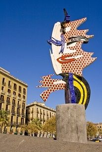 Roy Lichtenstein's <i>Cap de Barcelona (Barcelona Head)</i> created for the 1992 Summer Olympics in Barcelona, Spain