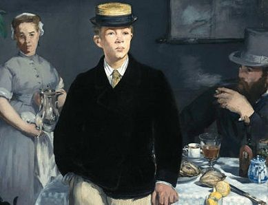 In <i>The Luncheon</i> (1868) Manet depicts his (alleged) son Leon. He caringly painted the boy over a dozen times.