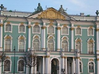 The entrance to Empress Elizabeth Petrovna's Winter Palace (1754-1762) designed by Bartolomeo Rastrelli