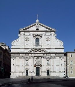 "The Church of the Gesù, Rome (1584) shows the simplified but dramatic tension that led contemporary architectural historian Nathan T. Whitman to call it, ""the first truly baroque façade."" Photo by Alessio Damato"