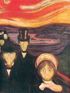 Edvard Munch's <i>Anxiety</i> (1894) is part of the body of works that influenced the start of Expressionism