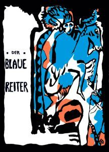 Der Blaue Reiter group published their own almanac that was in print until the start of World War I. This image was designed by Wassily Kandinsky.