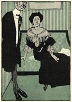 Bruno Paul's illustration (1897-1906) for <i>Simpliccimus</i> creates an ironic but compelling portrait of a bourgeois couple.