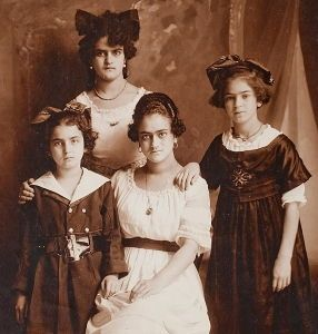 From left: Matilde, Adriana, Frida and Cristina Kahlo