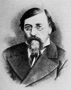 Nikolay Gavrilovich Chernyshevsky as depicted by an unknown artist in 1888, a year before his death.