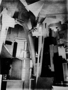 Kurt Schwitters Merzbau (1923-37) dissolved the distinction between art and life through making an enormous column inside his studio using various discarded materials.