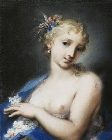 Rosalba Carriera's <i>Summer</i> (c. 1725) was part of a series depicting the seasons, each symbolized by a single nymph-like figure.
