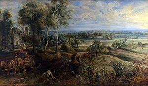 <i>A View of Het Steen in the early Morning</i> (1636) by Rubens