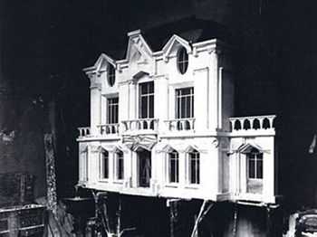 This photograph shows Raymond Duchamps-Villon original model for <i>La Maison Cubiste</i> (<i>Cubist House</i>) (1912), which was installed with life-sized rooms at the 1912 Salon d'Automne.
