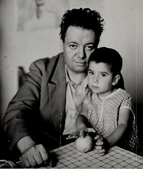 Diego Rivera and his daughter Guadalupe Rivera Marín (1927)