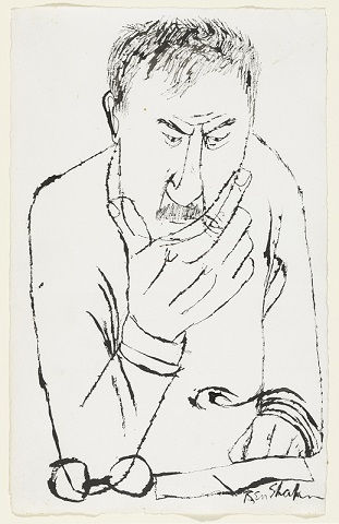Ben Shahn's Self-Portrait (1955). Ink on paper. New York's Museum of Modern Art Collection