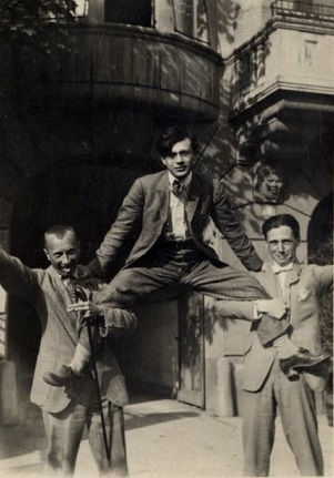 Hans Arp, Tristan Tzara (above), and Hans Richter - Zurich, 1917. Tzara was at the heart of Dada's innovative spirit, and that is how he is most-commonly remembered.