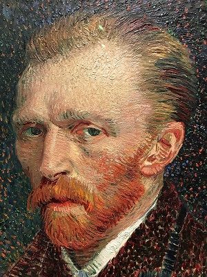 Vincent van Gogh Self-portrait (1887) that he made during his experiments with Neo-Impressionism
